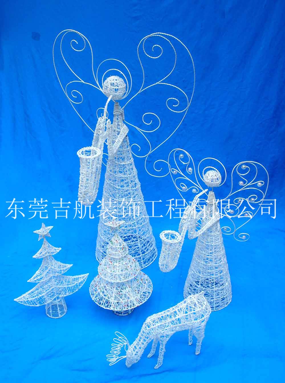 圣诞天使、LED天使大型花灯制作节庆花灯