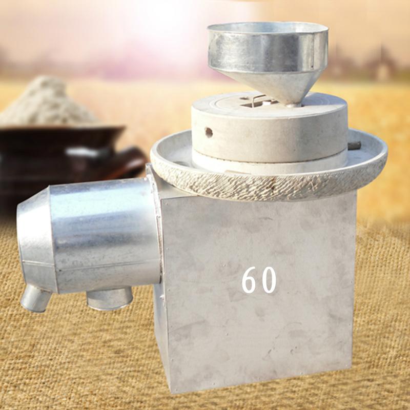 现林石磨电动石磨面粉机 60型 节能高效 石磨面粉机