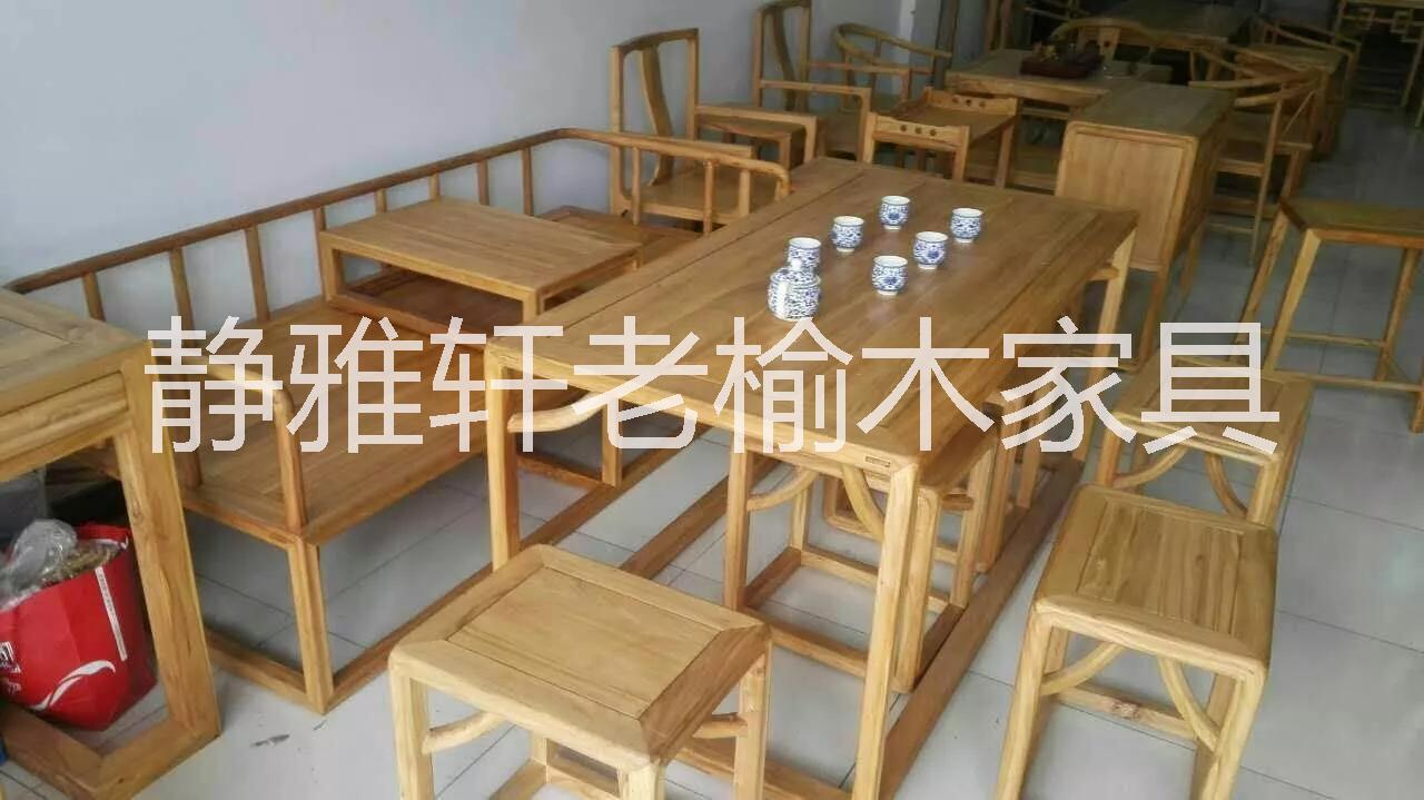空隙新中式榆木家具-空隙