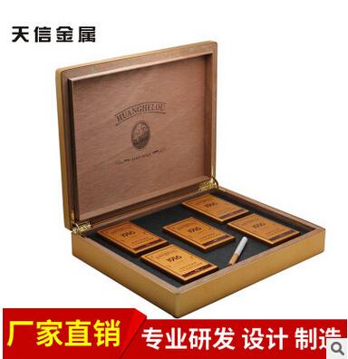 厂家供应高端铝制礼盒方形大铝盒 创意礼品包装盒定制加印LOGO 包木方形大铝盒