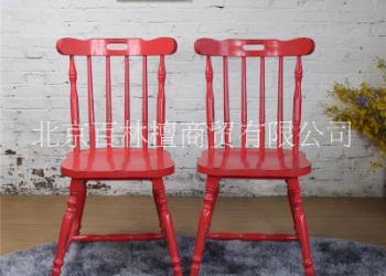 欧式实木仿竹节餐椅电脑靠背椅子图片