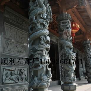 石柱盘龙柱大型龙柱寺庙龙柱石雕龙图片