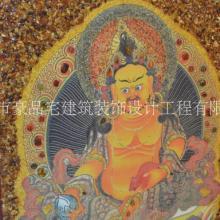 豪品宅  黄财神琥珀画财神之首高档家装 黄财神琥珀画财神之首高档挂饰壁画图片
