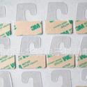 厂家供应飞机孔PVC挂钩 展示挂钩 自粘挂钩 塑料挂钩 透明粘钩