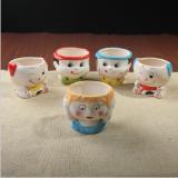 时尚卡通人物造型陶瓷花盆摆饰