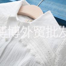 女童春款蕾丝边大披肩白衬衫时尚爆款厂家直供打底衫童装批发