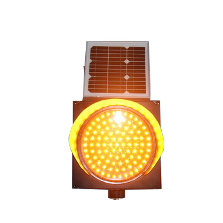 厂家直销 太阳能黄闪灯 黄闪警示灯 单晶硅太阳能板 品质保证 高亮度LED灯珠