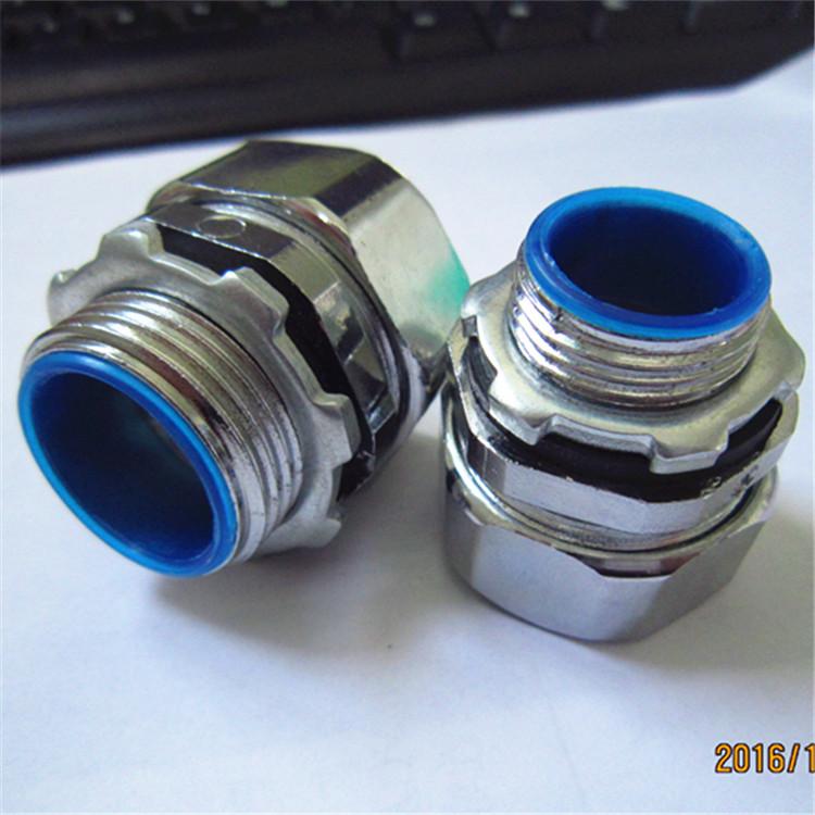 意通达提供包塑金属软管接头锌合金压铸防水防尘连接软管与设备或箱体
