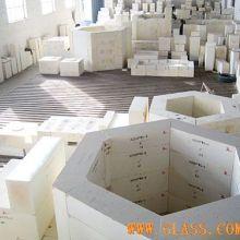 可满足玻璃窑炉各种部位的使用要求  电熔锆刚玉砖   电熔刚玉