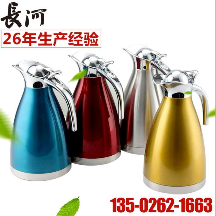 304 加厚不锈钢欧式真空保温咖啡壶 双层家用热水瓶厂家直销