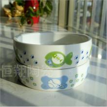 现货供应狗狗食具用品 陶瓷狗食盆价格 猫碗宠物用品批发零售图片