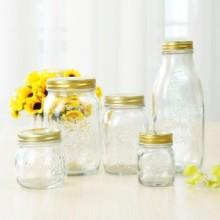 厂家直供300毫升170毫升 雕花密封玻璃瓶蜂蜜瓶玻璃包装容器