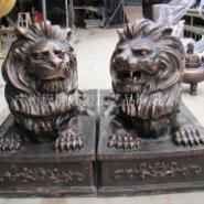 玻璃钢狮子雕塑图片