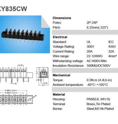 栅栏式电源接线端子图片/栅栏式电源接线端子样板图 (2)