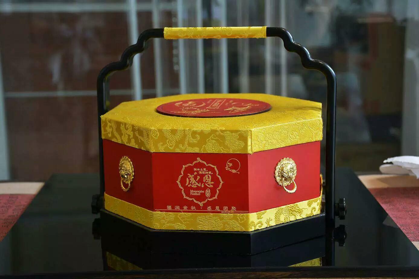 高端纯银月饼盒 礼品盒 套装盒 木盒 食盒 套装首饰盒