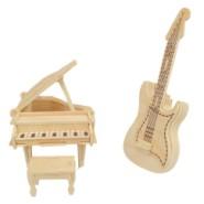 3D木制吉他模型图片