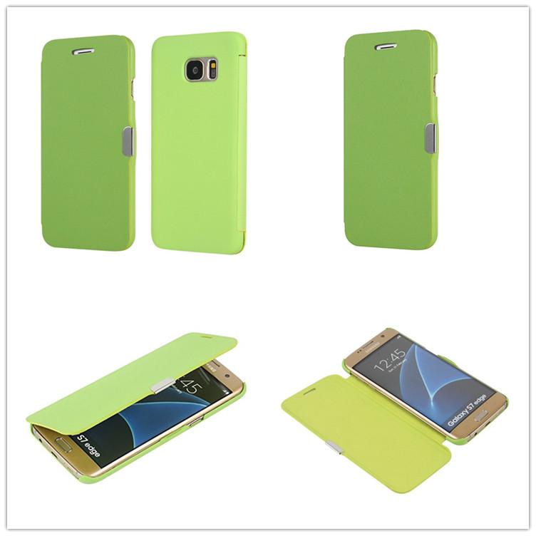 英国畅销款 三星s7edge磁铁对吸手机套 斜纹手机保护套