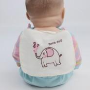 动物绣花6层纱布汗由纯棉吸汗巾图片