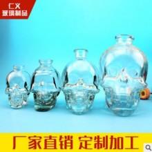 水晶骷髅头杯伏特加威士忌酒瓶创意骷颅头洋酒瓶  玻璃骷髅头瓶图片