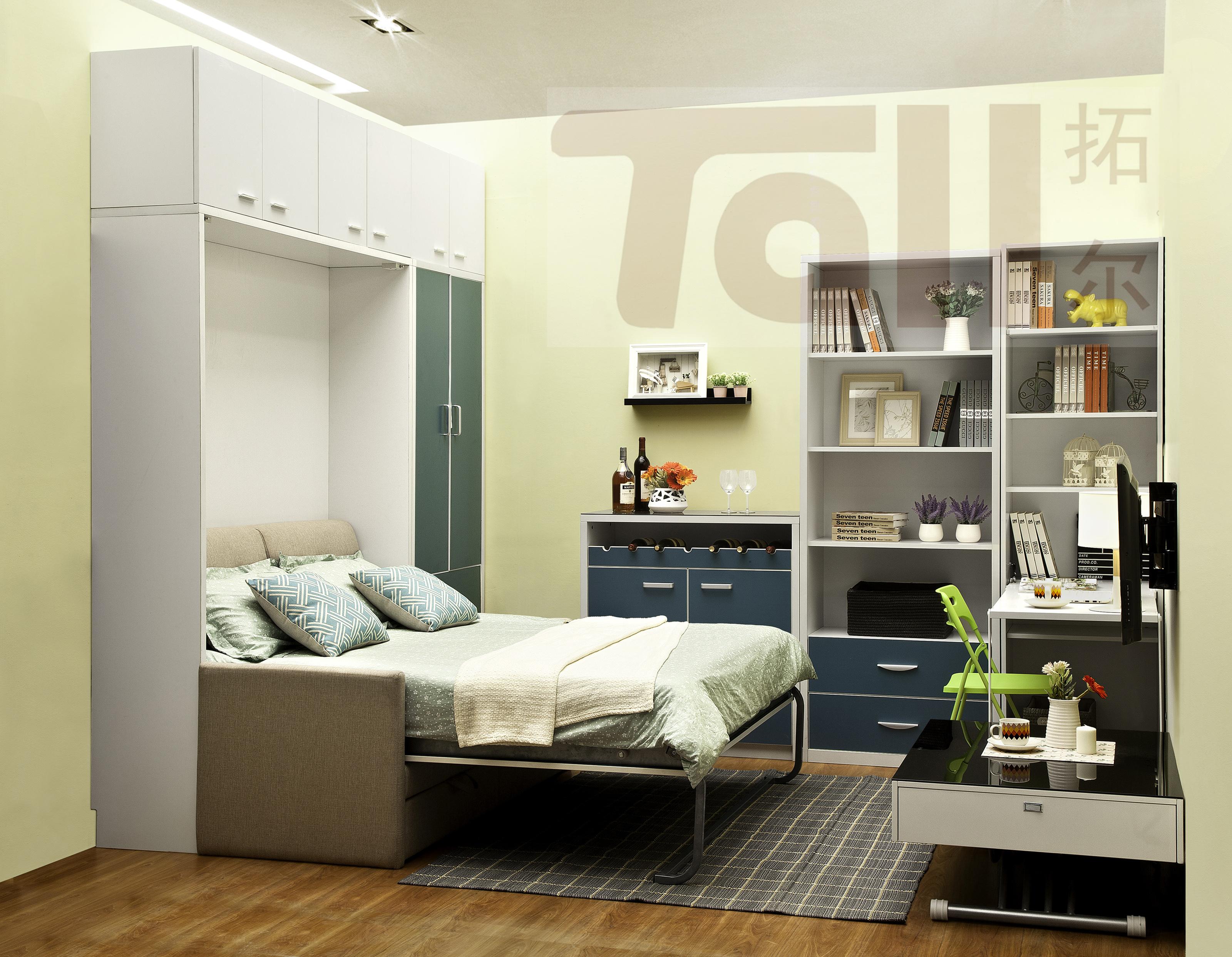 时尚简约idy个性卧室家具解决卧室空间的烦恼  隐形床儿童床双层床翻