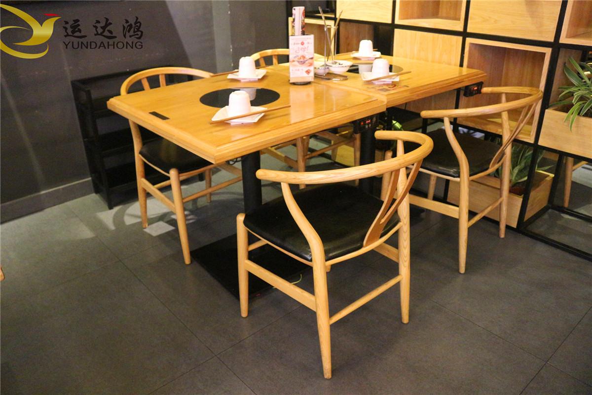 实木火锅桌椅 深圳实木火锅桌椅价格 实木火锅桌椅工厂 实木火锅桌