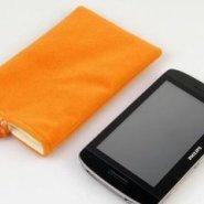 移动电源耳机手机拉绳绒布袋图片