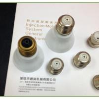 供应深圳节能免焊灯头注塑机生产厂家/E26 E27灯头专用转盘注塑机