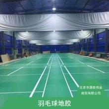 米澳晨羽毛球场地胶 透明耐防滑磨层运动场地PVC塑胶地板定制施工批发