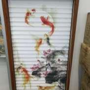 广州3D喷画窗帘图片
