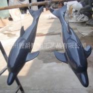 广东雕塑厂家 批量现货供应 玻璃钢海豚动物雕塑 海洋主题乐园游乐场海豚造型挂件