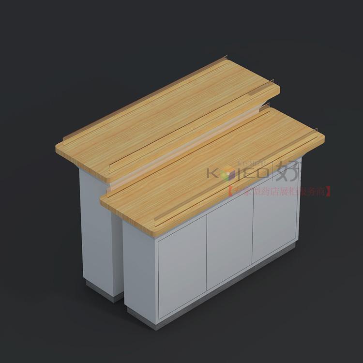 展柜加工厂 木质高低促销台