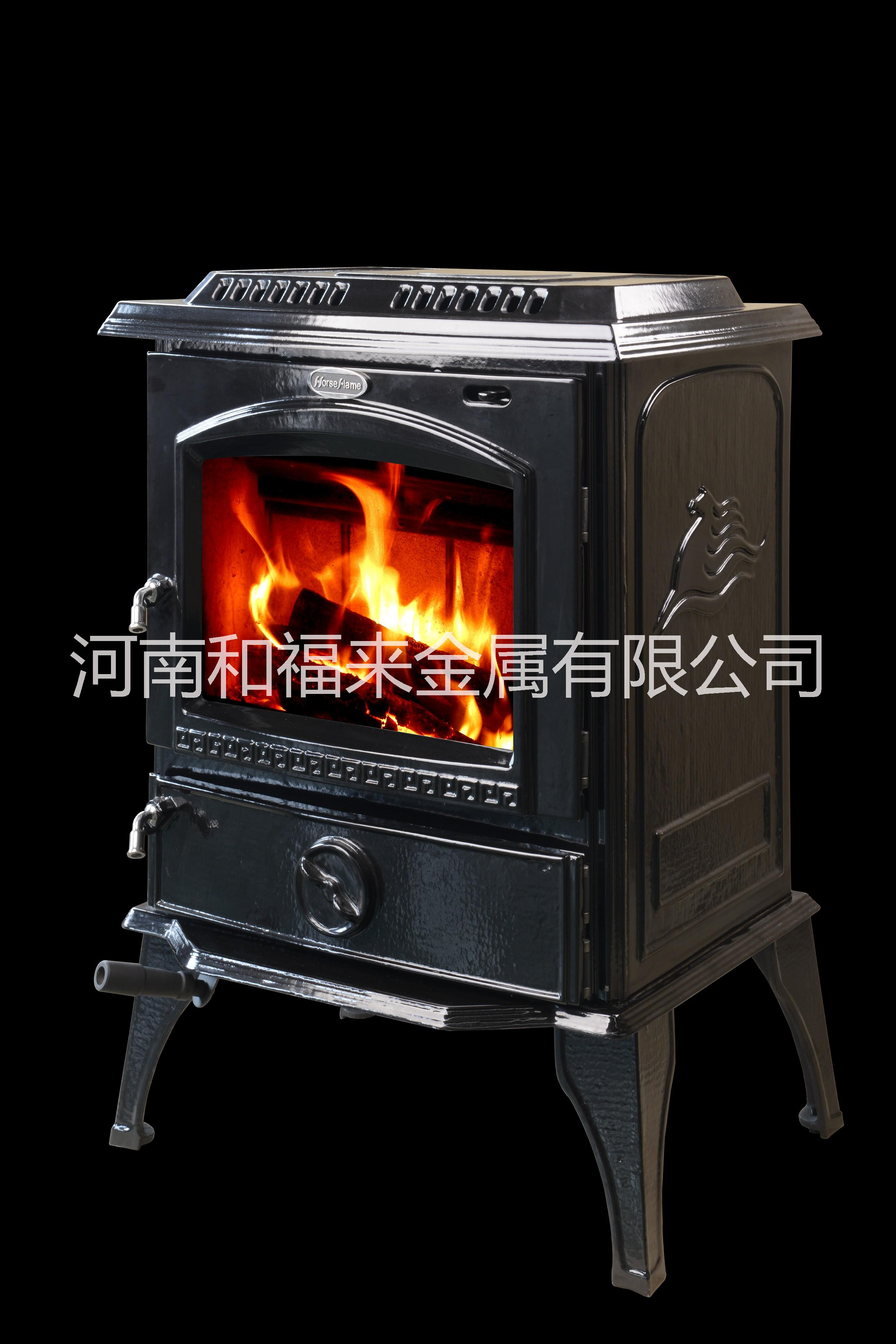 多燃料真火燃木炉子 铸铁壁炉HF717U黑色