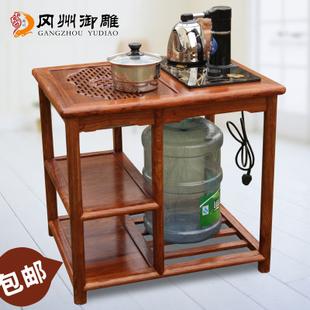 红木茶桌家具花梨木茶台茶艺桌
