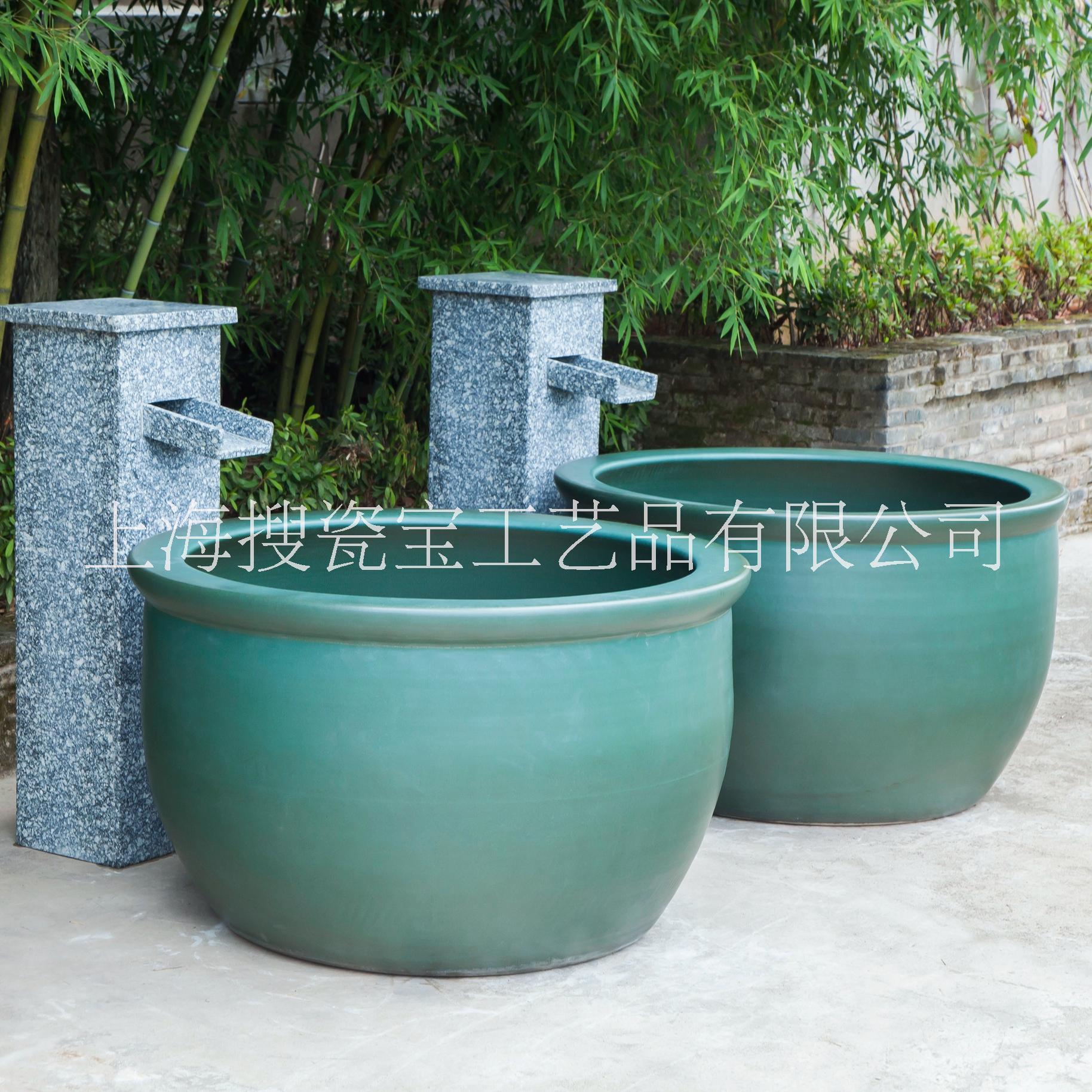 极乐汤浴缸 陶瓷温泉缸 陶瓷澡缸