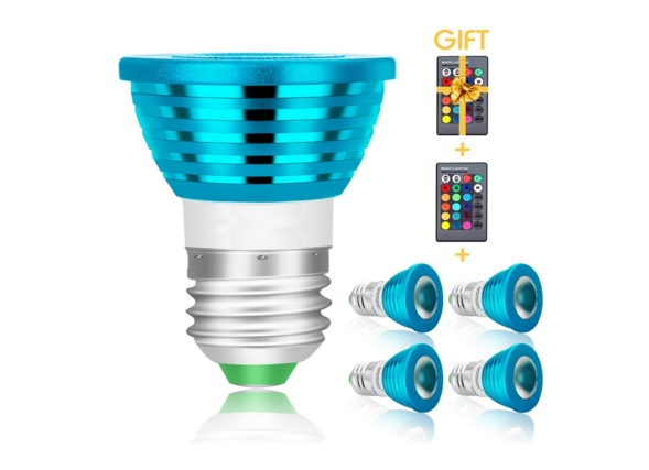 LED七彩红外遥控调光同步RGB LED七彩红外遥控球泡灯