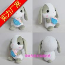 兔子公仔厂家定制毛绒玩具坐姿兔子公仔展会礼品兔兔毛绒玩具