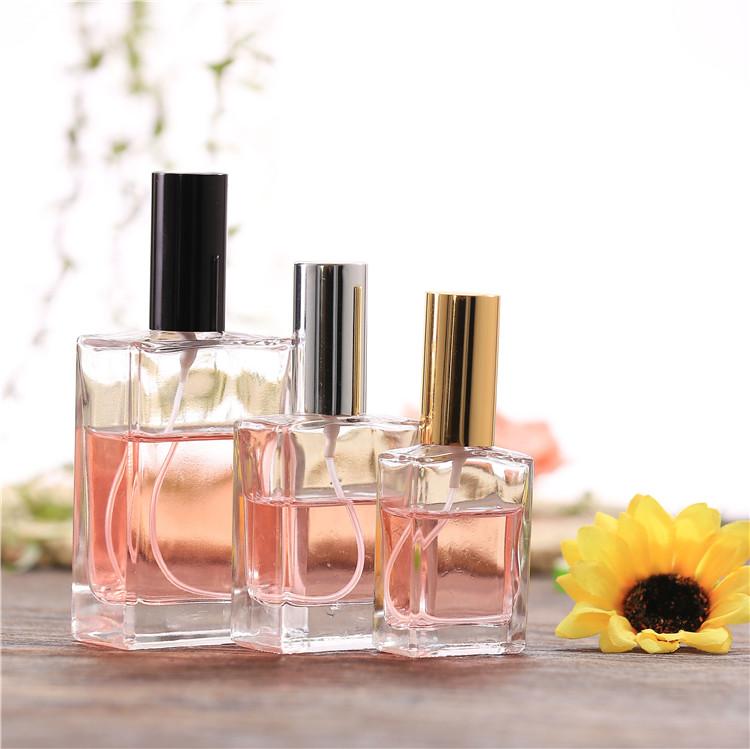 相厂家直供香水玻璃瓶 优质喷头香水瓶 化妆品包装香薰瓶精油瓶矩形 高档香水瓶 高档玻璃香水瓶