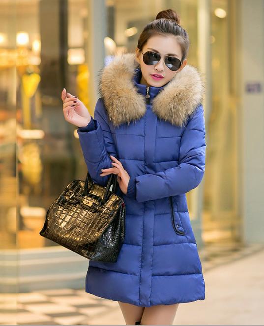 女装冬季新款羽绒棉中长款棉衣女韩版羽绒棉服女特价棉衣厂家直销