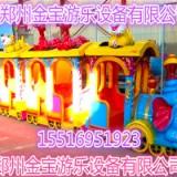 新型游乐设备无轨道大象火车卡通造型郑州金宝胜人一筹