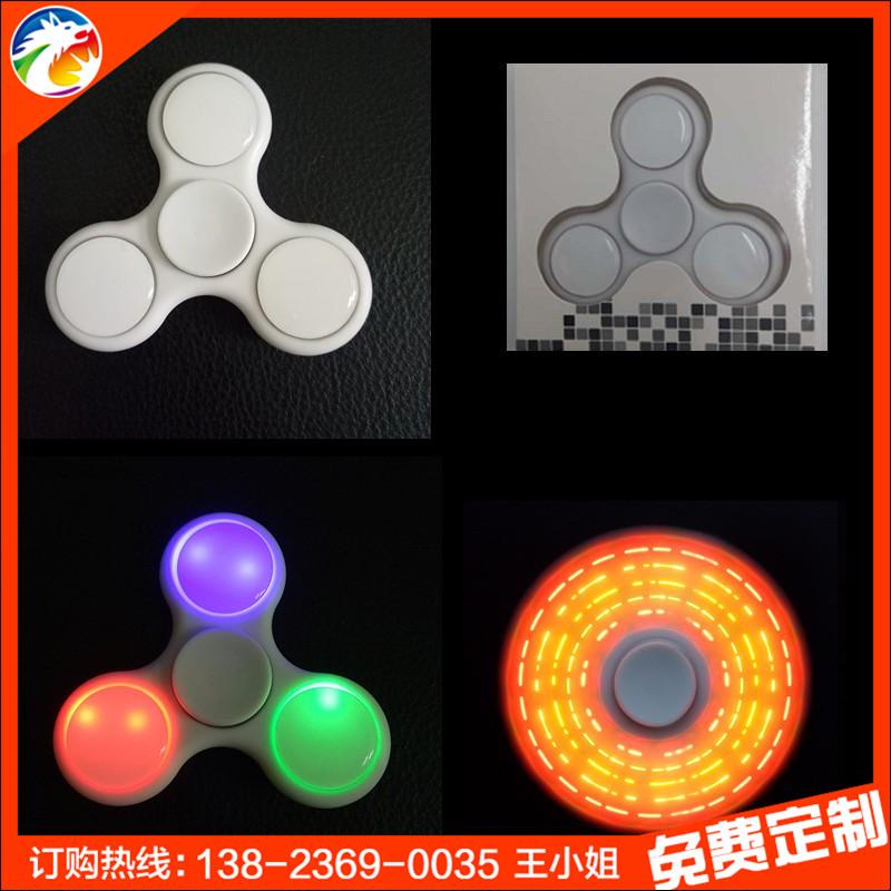 七彩狼4代花样指尖陀螺 LED发光fidet spinner减压指尖陀螺 厂家