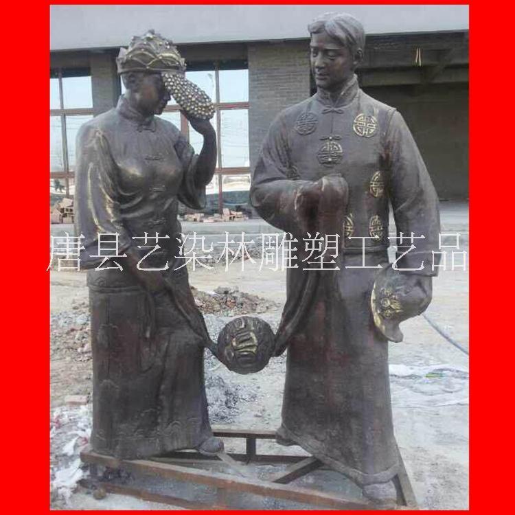 专业定制大型铜雕人物 铜雕摆件 园林景观雕塑金属工艺品批发