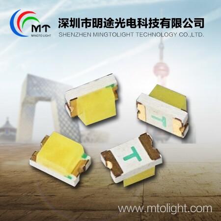 厂家直销 明途0805贴片式灯珠深绿光单色 0805LED贴片式深绿光灯珠