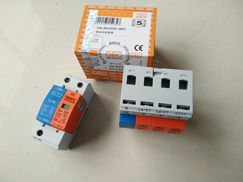 OBO防雷器浪涌电涌保护器V25-B+C V20-B V10-C/3+NPE