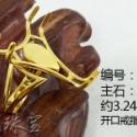 925银戒指工厂批发开口蜜蜡戒托图片