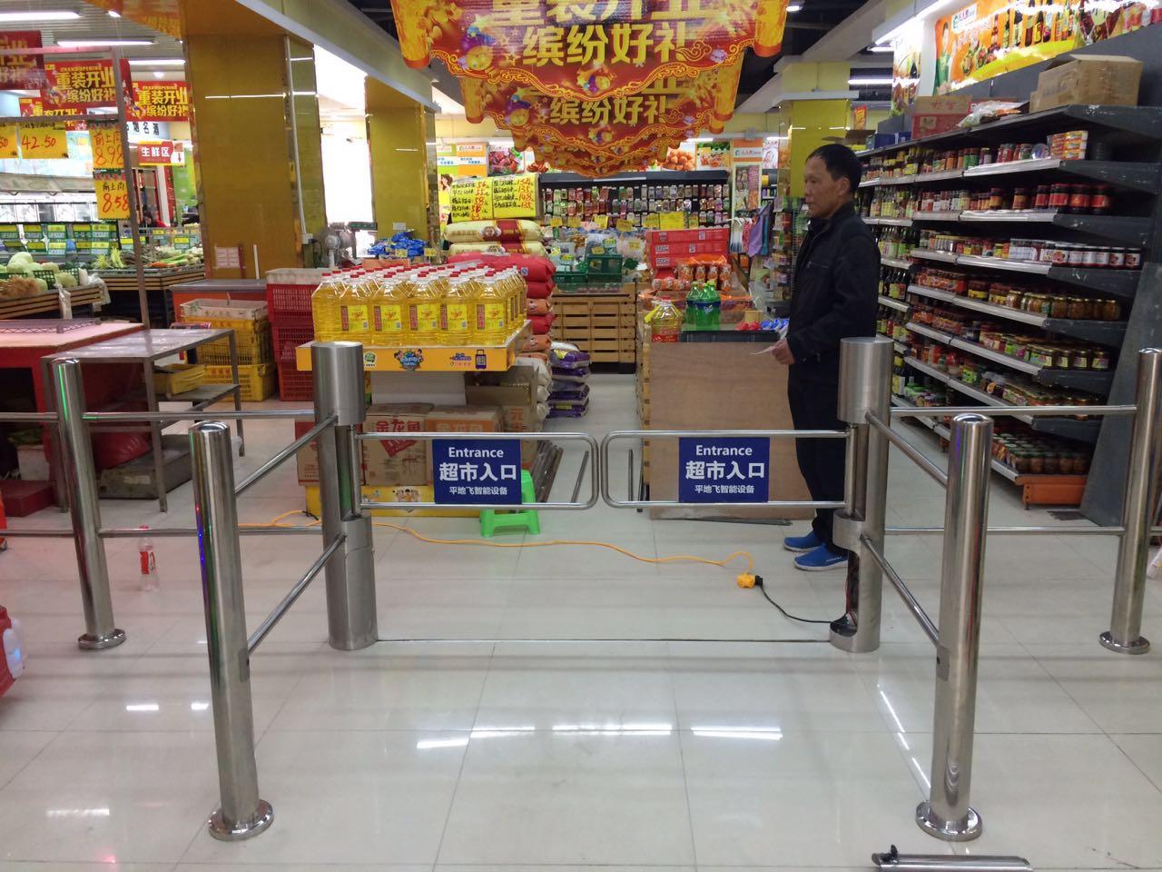 超市单行门单向进口感应门超市自动感应门