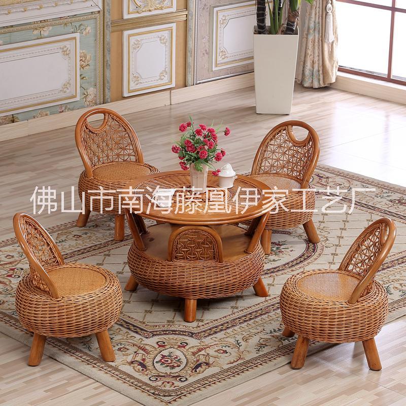 广东阳台小藤椅茶几组合室内藤椅 小藤椅价格 小藤椅厂家 藤编桌椅