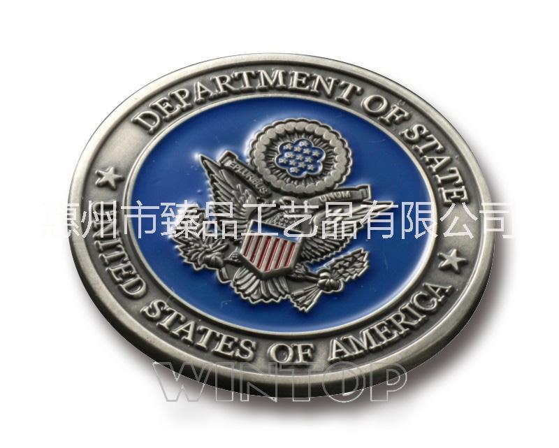 立体上色纪念币 厂家定做礼品 金属工艺品 免费设计