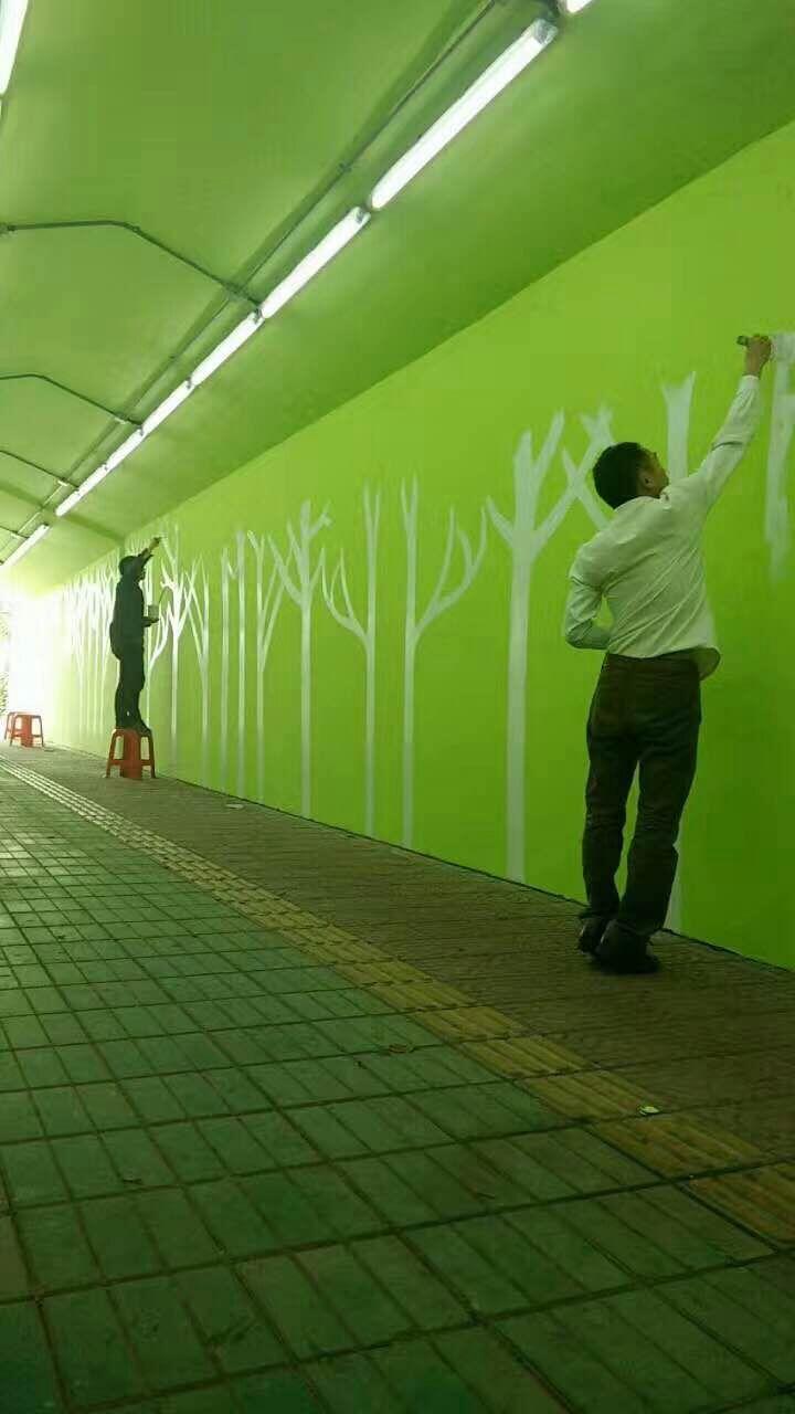 湛江墙绘、酒店壁画、手绘3D壁画