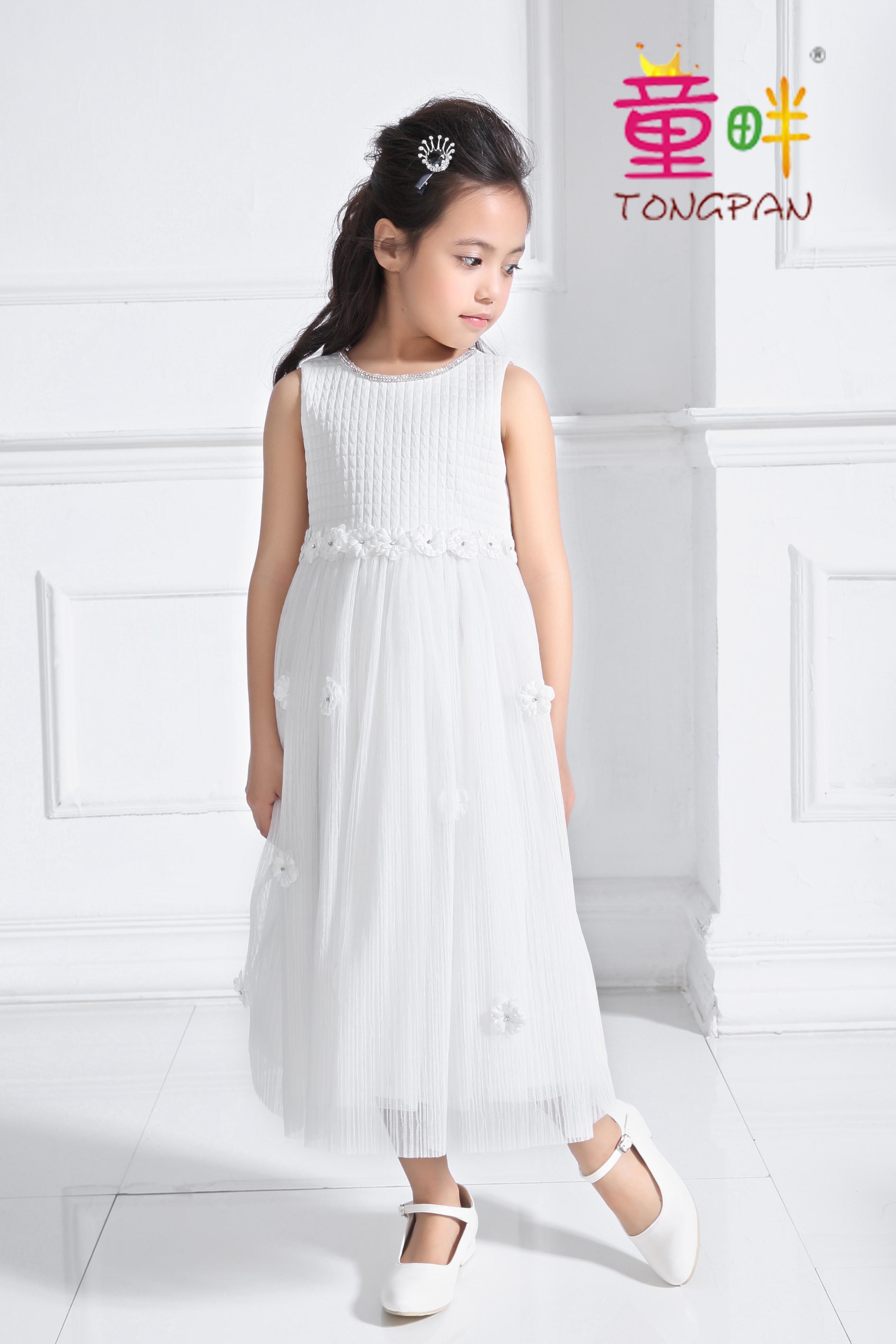 童畔儿童走秀礼服阳光女孩优雅长裙