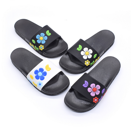 凉拖鞋女花朵时尚平跟外穿厚底一字销售